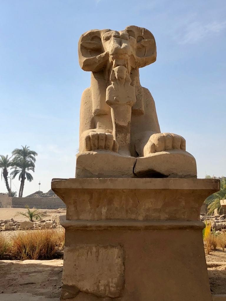 エジプト ルクソール カルナック神殿複合体 アメン神殿 参道のスフィンクス