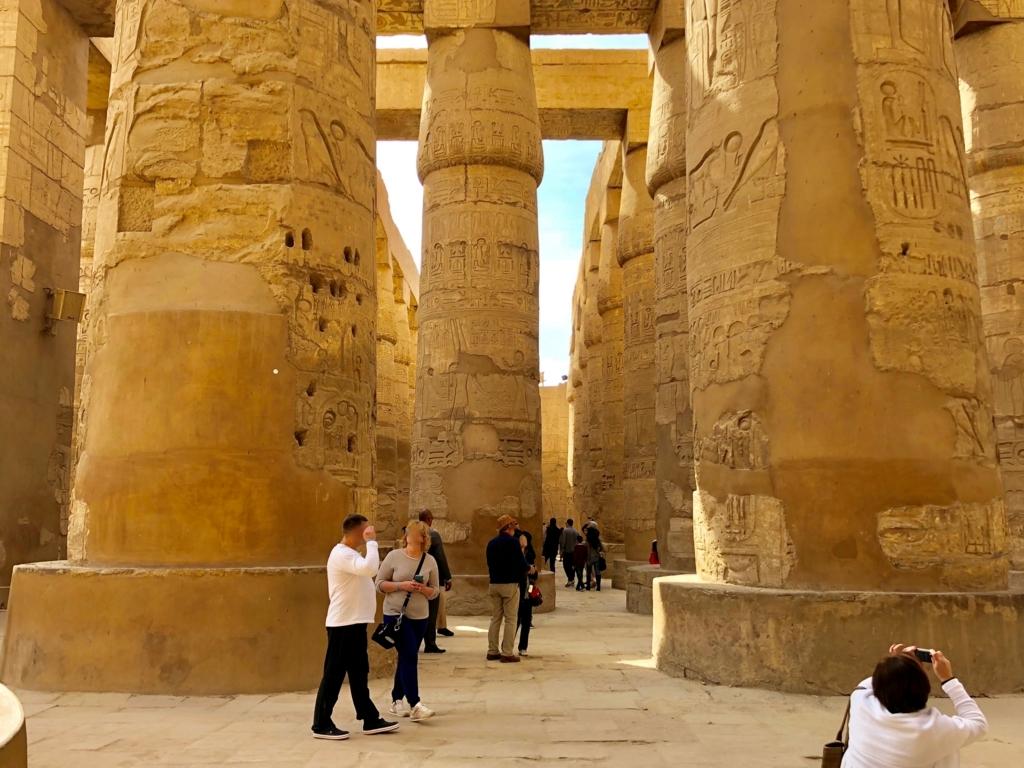 エジプト ルクソール カルナック神殿複合体 アメン神殿 大列柱室