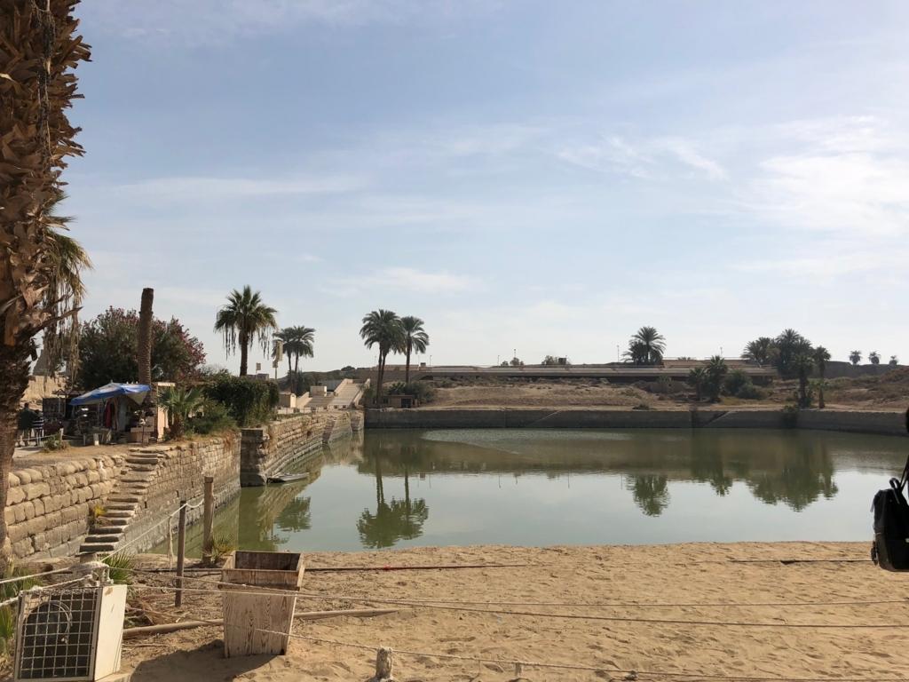 エジプト ルクソール カルナック神殿複合体 アメン神殿 聖池
