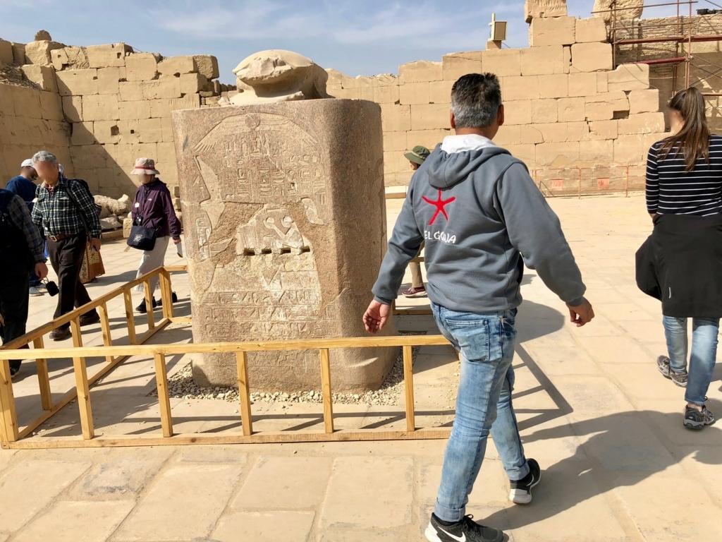 エジプト ルクソール カルナック神殿複合体 アメン神殿 聖池 スカラベ
