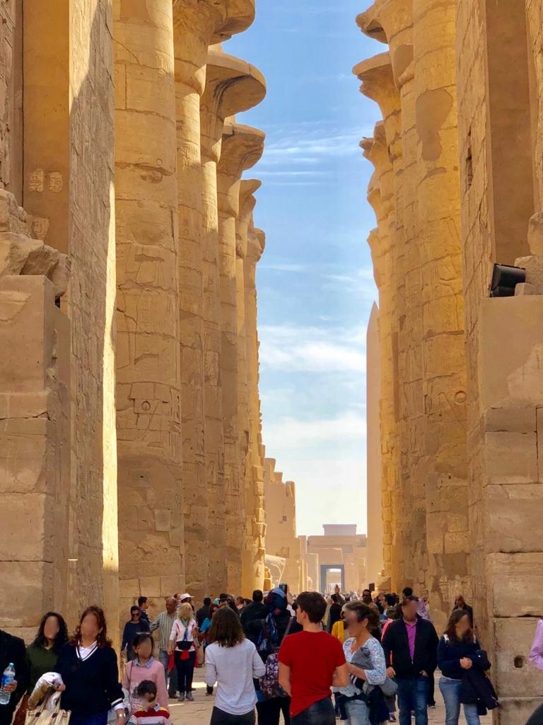 エジプト ルクソール カルナック神殿複合体 アメン神殿 大列柱室 第2塔門より