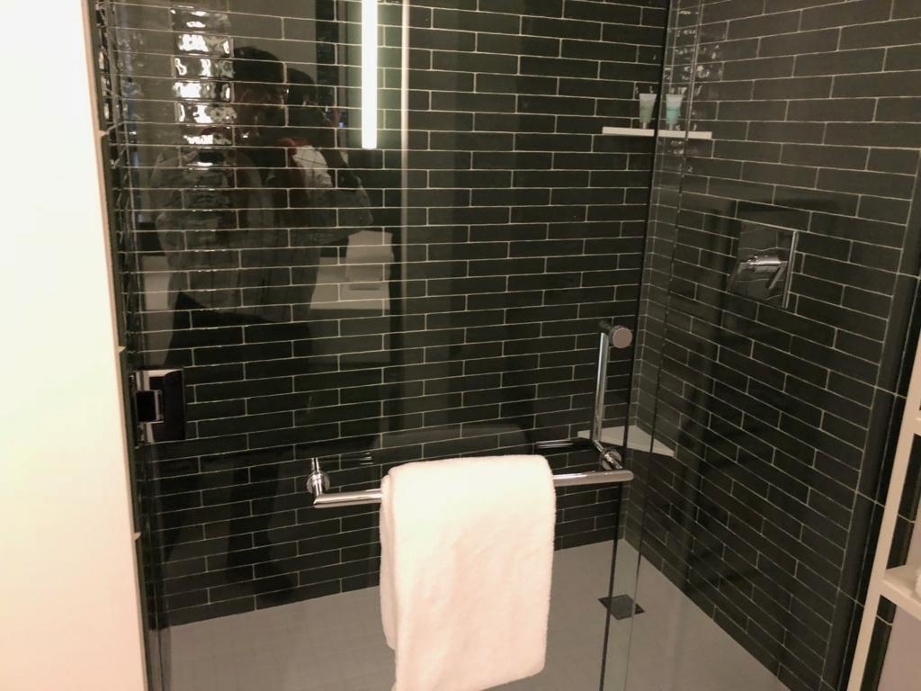 2018年2月 ラスベガス モンテカルロホテル 客室 水回り シャワールーム
