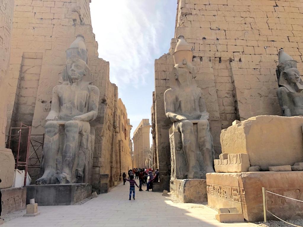 エジプト ルクソール東岸 ルクソール神殿