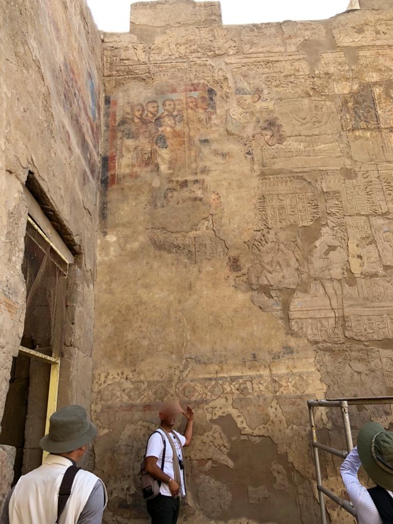 エジプト ルクソール東岸 ルクソール神殿 礼拝堂に改装されてしまった部屋