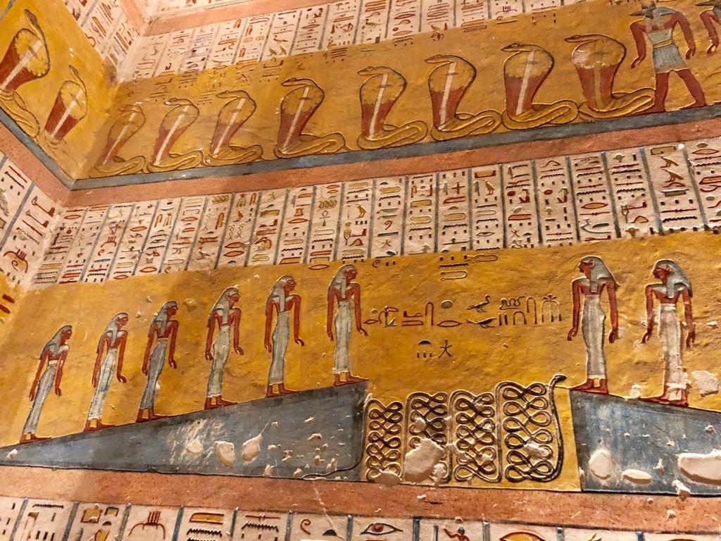 エジプト ルクソール 「王家の谷」ラムセス4世 王墓 玄室 壁画「死者の書」