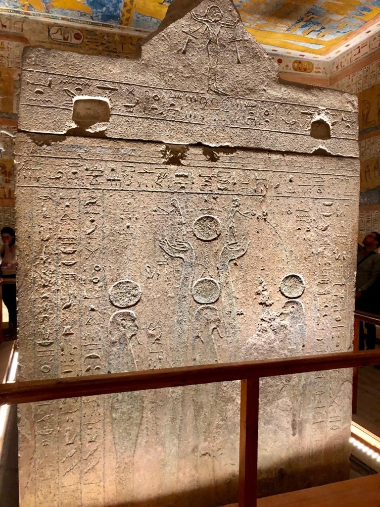 エジプト ルクソール 「王家の谷」ラムセス4世 王墓 玄室 巨大な石棺