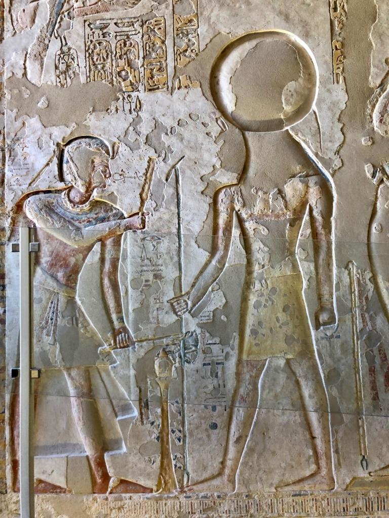 エジプト ルクソール 「王家の谷」ラムセス9世 王墓 入り口壁画