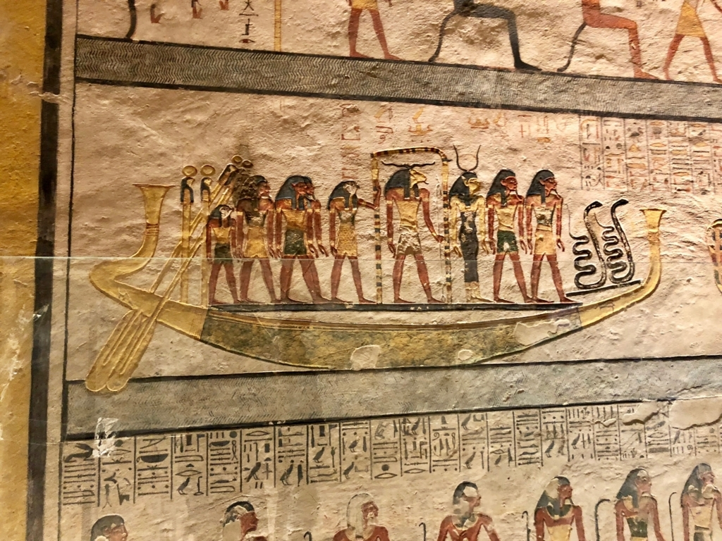 エジプト ルクソール 「王家の谷」ラムセス9世 王墓 通路 壁画