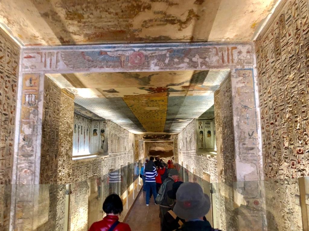 エジプト ルクソール 「王家の谷」ラムセス3世 王墓 通路