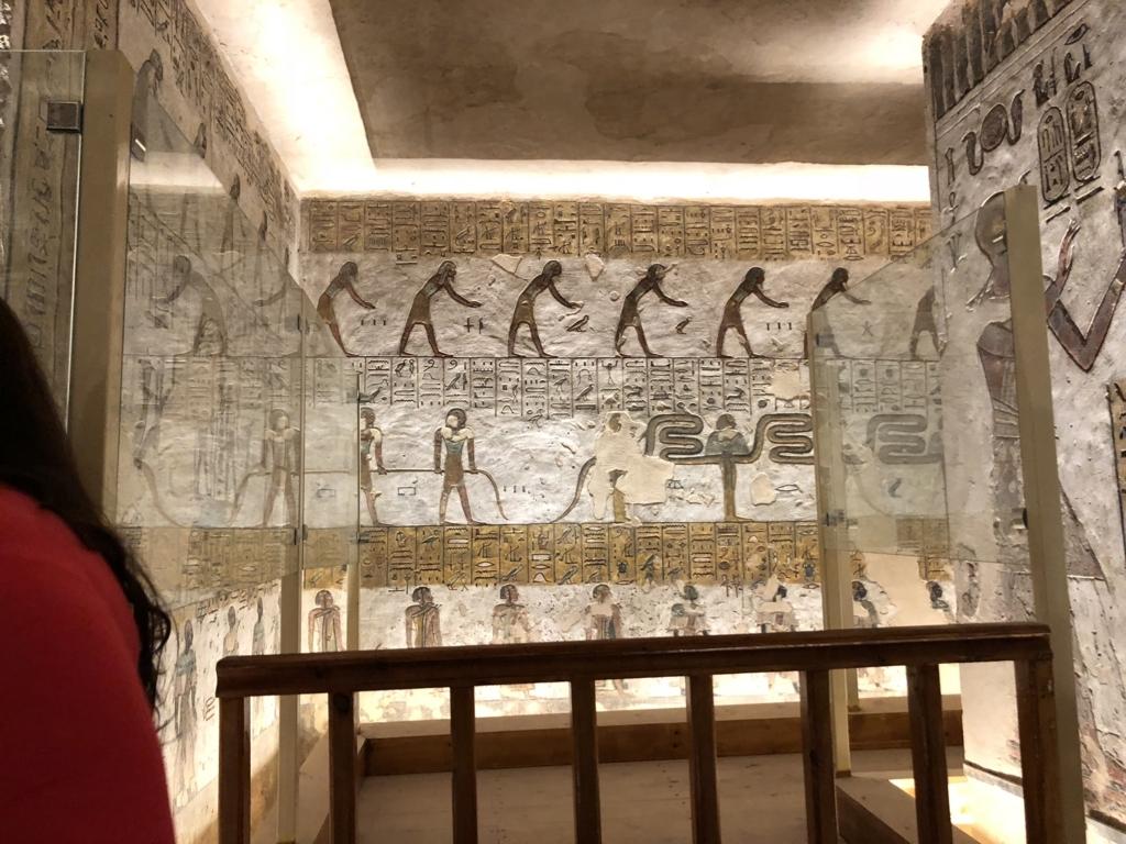 エジプト ルクソール 「王家の谷」ラムセス3世 王墓 通路の奥 通行止め