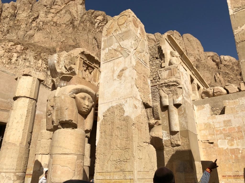 エジプト ルクソール ハトシェプスト女王葬祭殿 2階 ハトホル女神礼拝所
