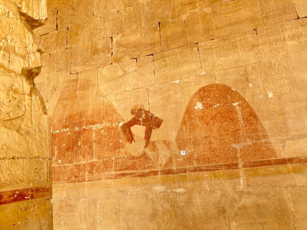 エジプト ルクソール ハトシェプスト女王葬祭殿 2階 レリーフ 収穫?