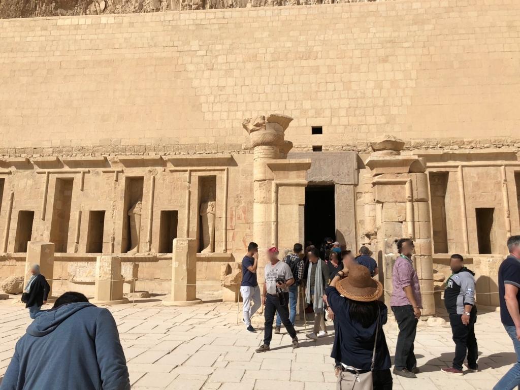 エジプト ルクソール ハトシェプスト女王葬祭殿 3階 至聖所 入り口