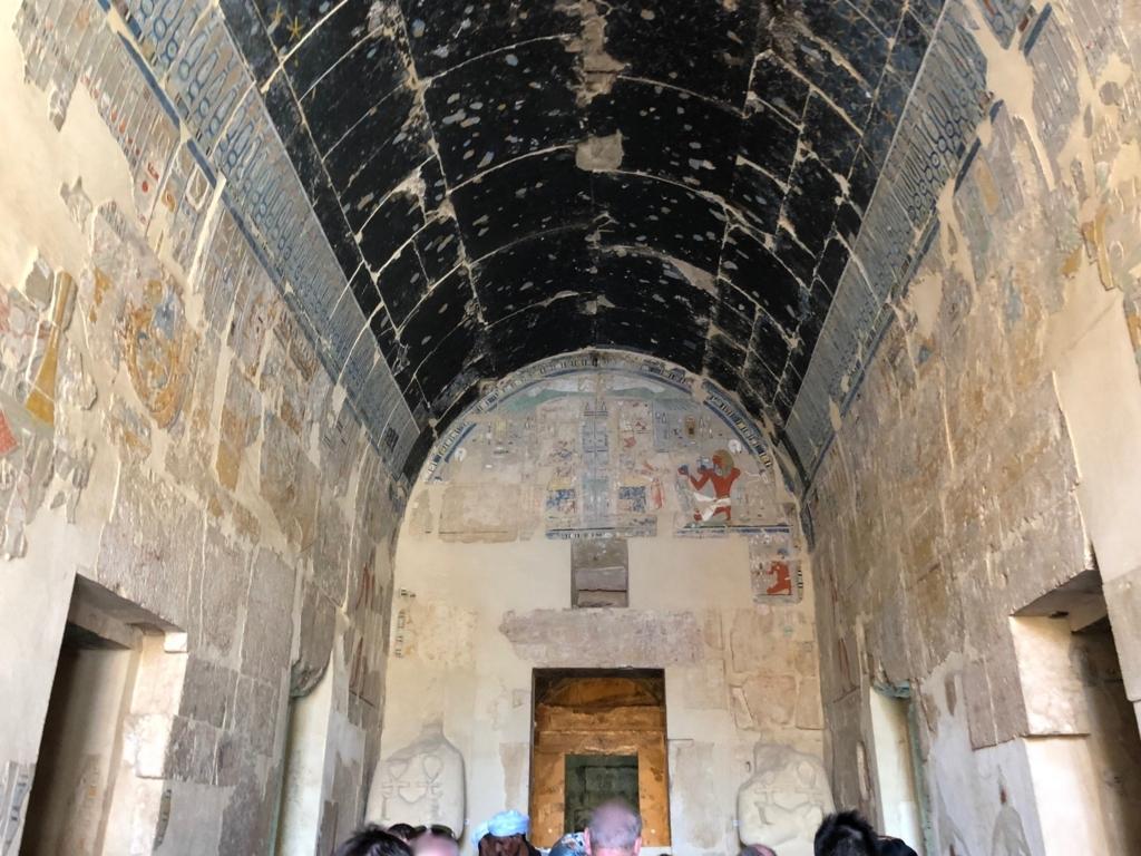エジプト ルクソール ハトシェプスト女王葬祭殿 3階 至聖所内