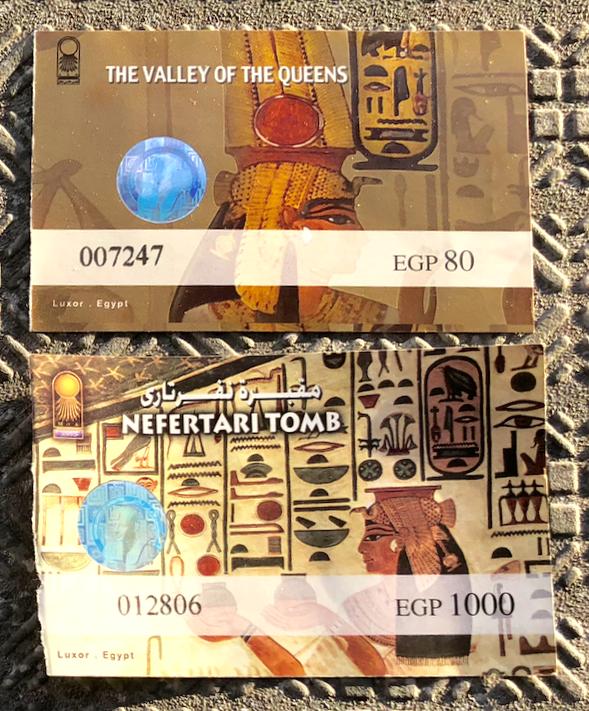 エジプト ルクソール 西岸 王妃の谷「ネフェルタリの墓」チケット