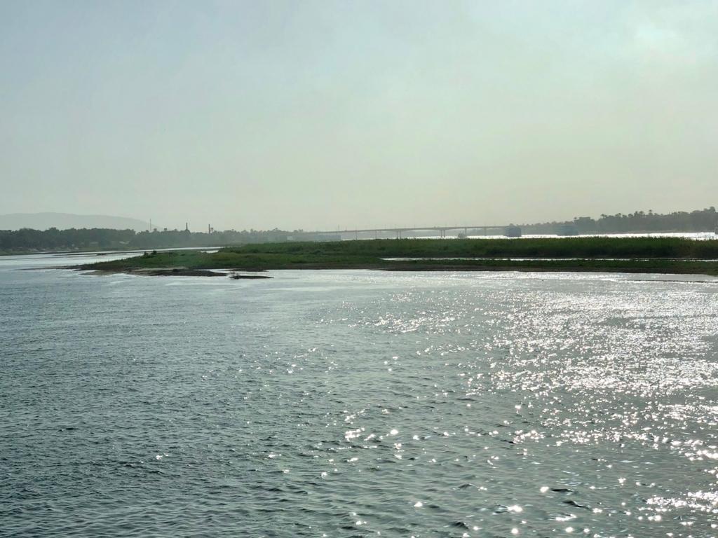 エジプト ナイル川 ルクソール付近 中州