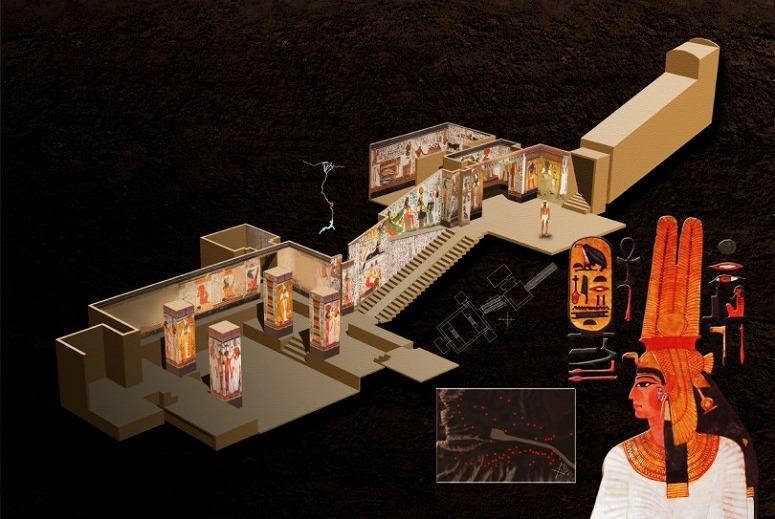 エジプト ルクソール 西岸 王妃の谷「ネフェルタリの墓」構造 by egypt.newton-geo.jp