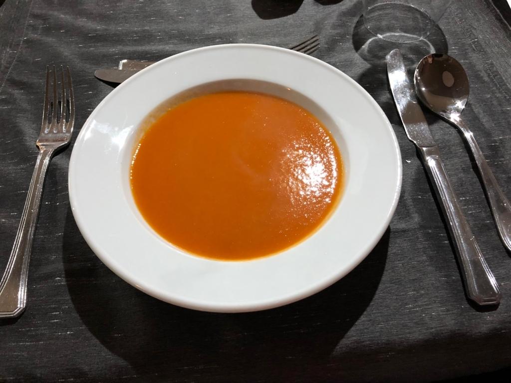 エジプト ナイル川クルーズ船 MS/PREMIUM 2日目夕食 コース料理 スープ