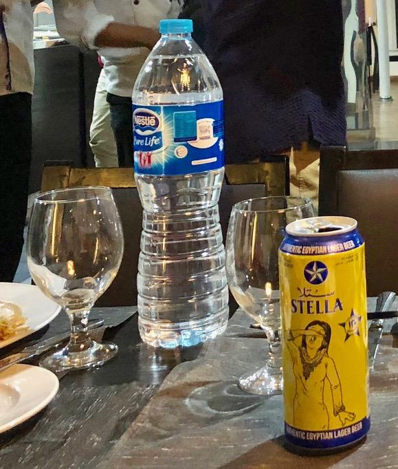 エジプト ナイル川クルーズ船 MS/PREMIUM 食事 現地のビール(ステラ)