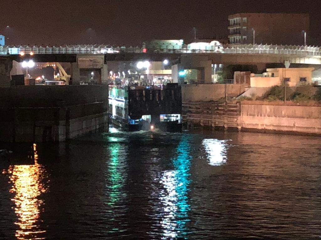 エジプト ナイル川 クルーズ エドフの水門 入場