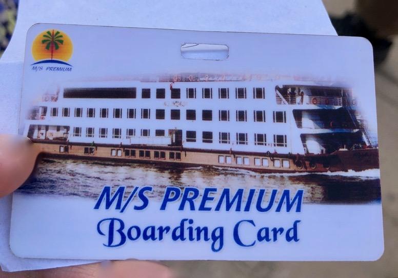 エジプト クルーズ船 MS/PREMIUM Boarding Card