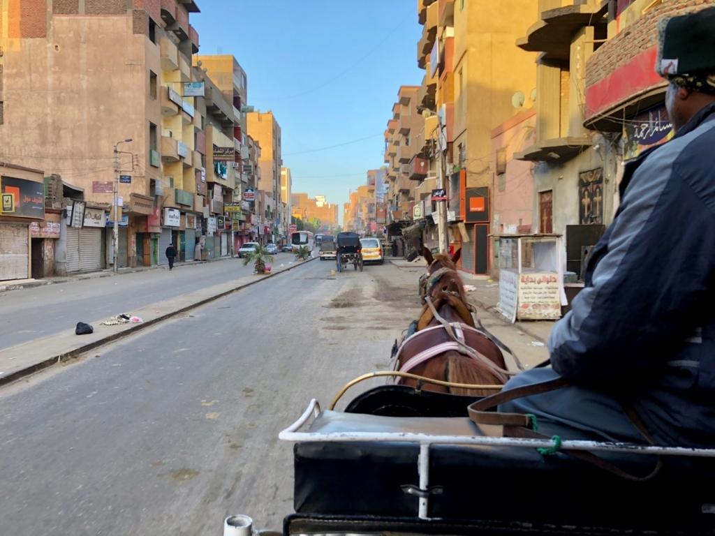 エジプト エドフの街 朝7時