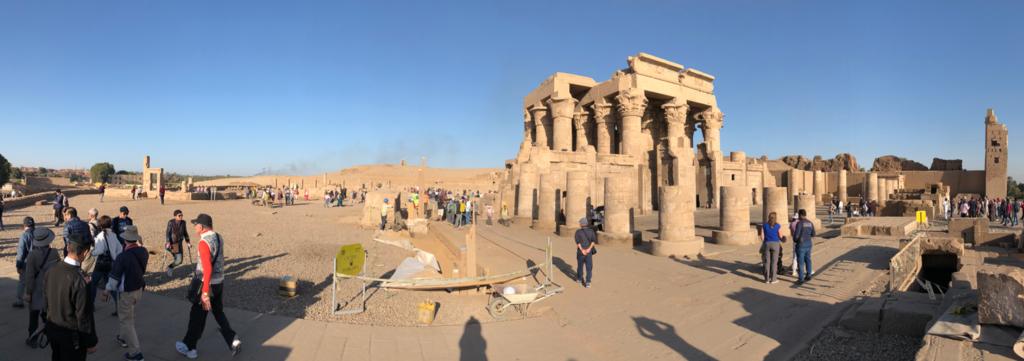 エジプト コムオンボ 「コムオンボ神殿」パノラマ撮