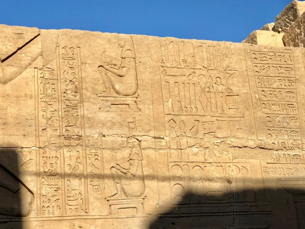 エジプト コムオンボ 「コムオンボ神殿」医療器具のレリーフ