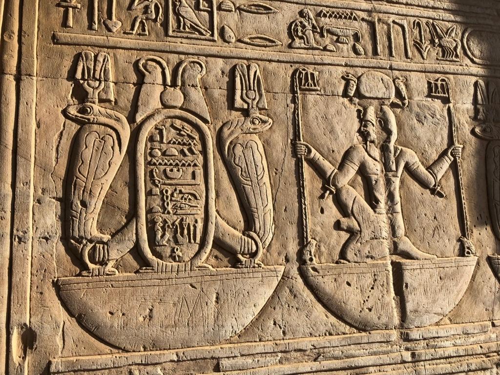 エジプト コムオンボ 「コムオンボ神殿」レリーフ