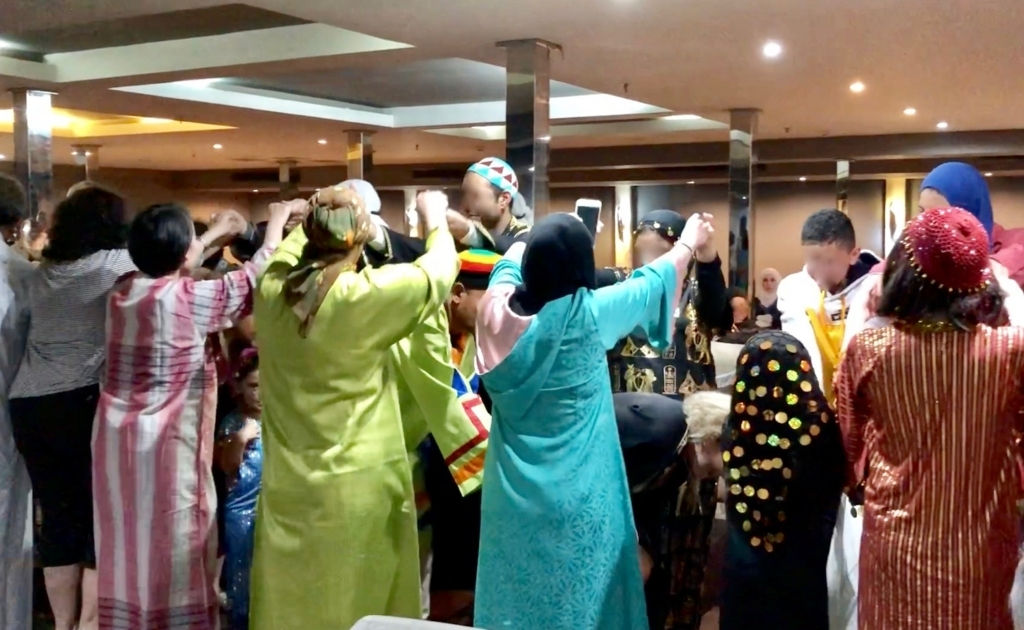 エジプト ナイル川クルーズ船 MS/PREMIUM ガラベーヤパーティー 「通りゃんせ」