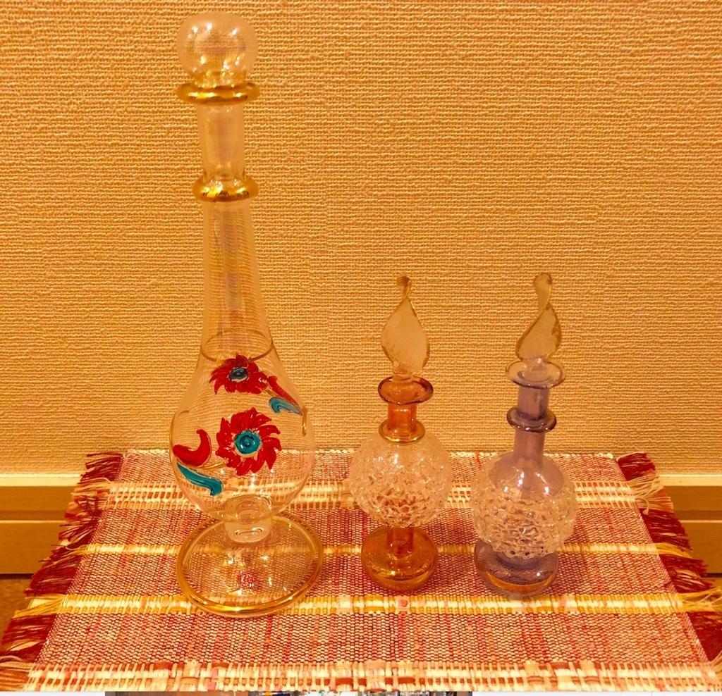 エジプト アスワン 香水(アロマ)屋さん「KYPHI PERFUMES」オマケの香水瓶