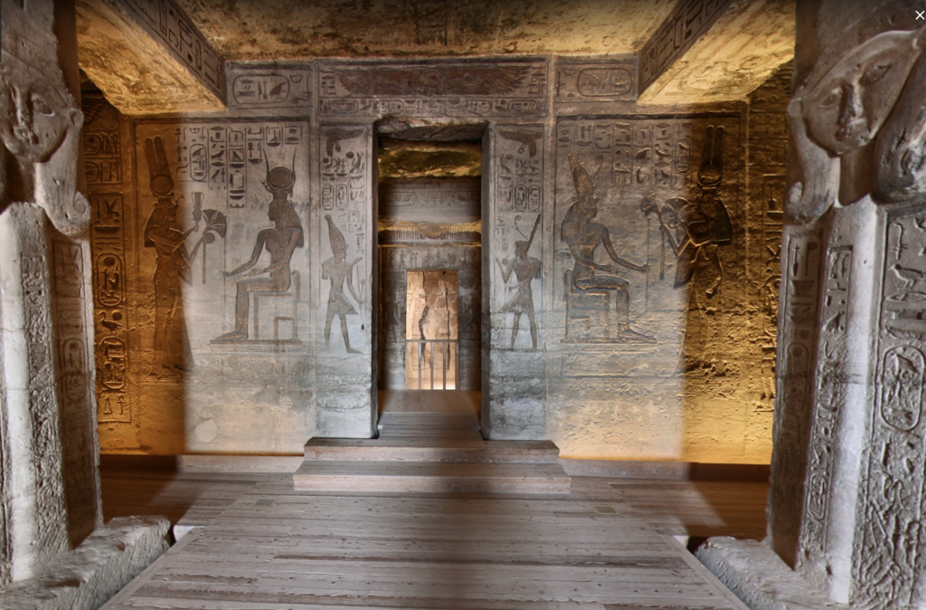 エジプト 南部 アブシンベル神殿 小神殿内 壁画 by www.google.co.jp