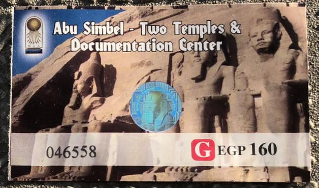 エジプト 南部 アブシンベル神殿 入場券