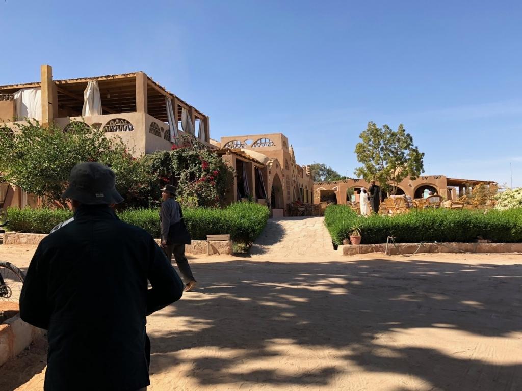 エジプト ナセル湖畔 「Eskaleh Nubian Ecolodge」 宿泊施設?