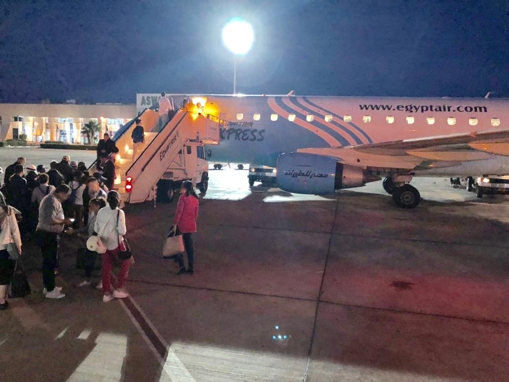 エジプト アスワン-カイロ空港 エジプト航空 MS398便ビジネスクラス搭乗
