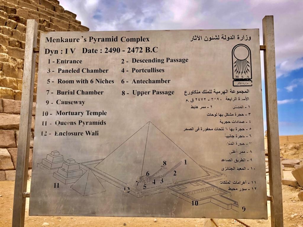 エジプト ギザ メンカウラー王 ピラミッド 内部断面図