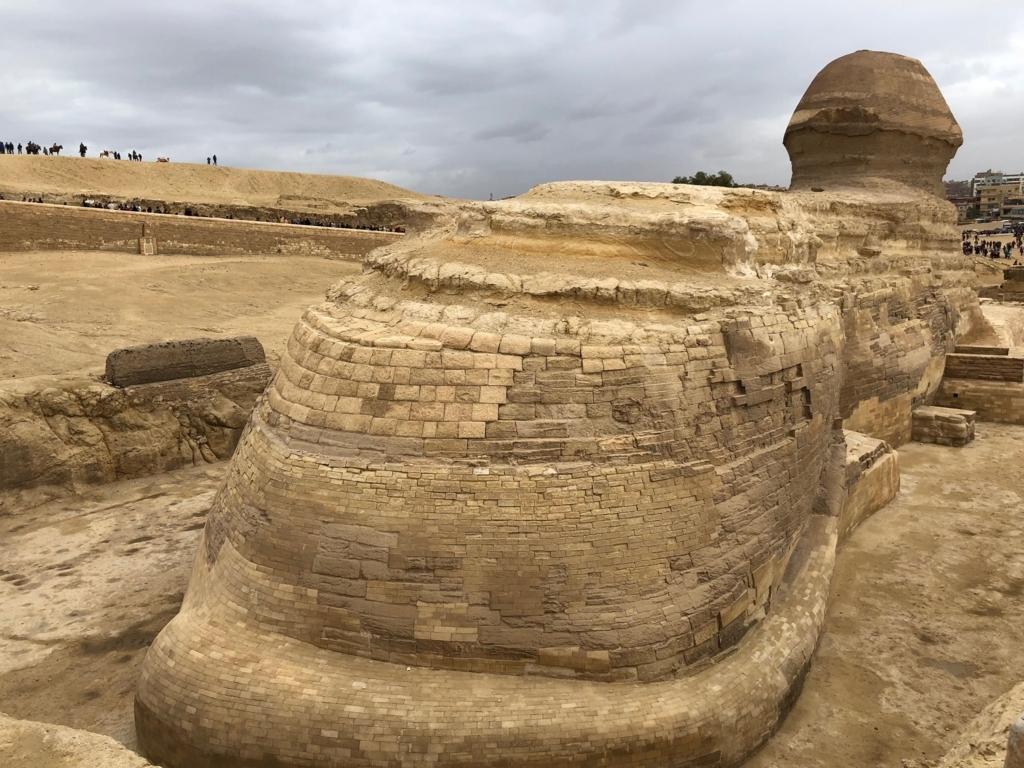 エジプト ギザ 3大ピラミッド観光 スフィンクスのお尻