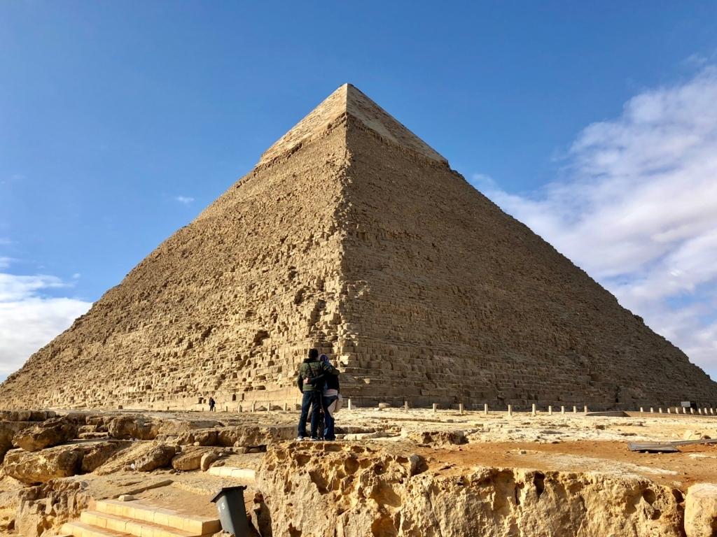エジプト ギザ カフラー王 ピラミッド
