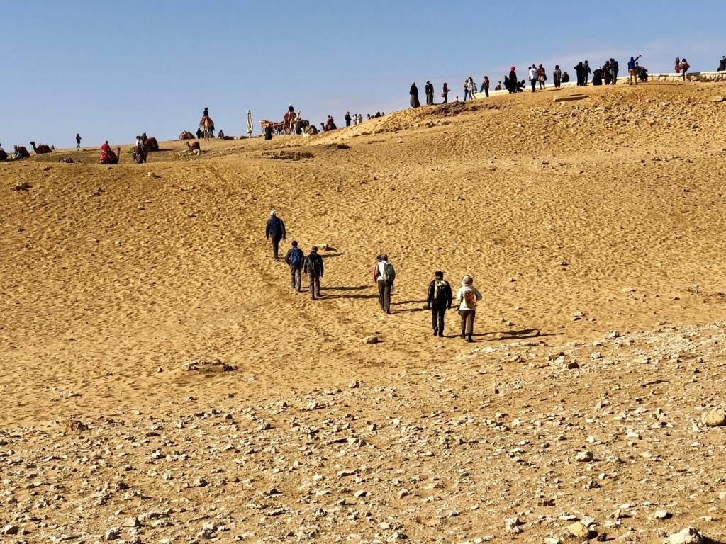 エジプト ギザ 3大ピラミッド「パノラマポイント」丘の上