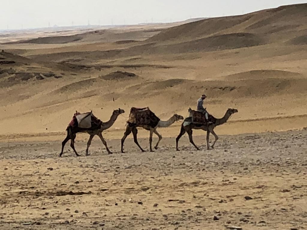 エジプト ギザ 3大ピラミッド 砂漠