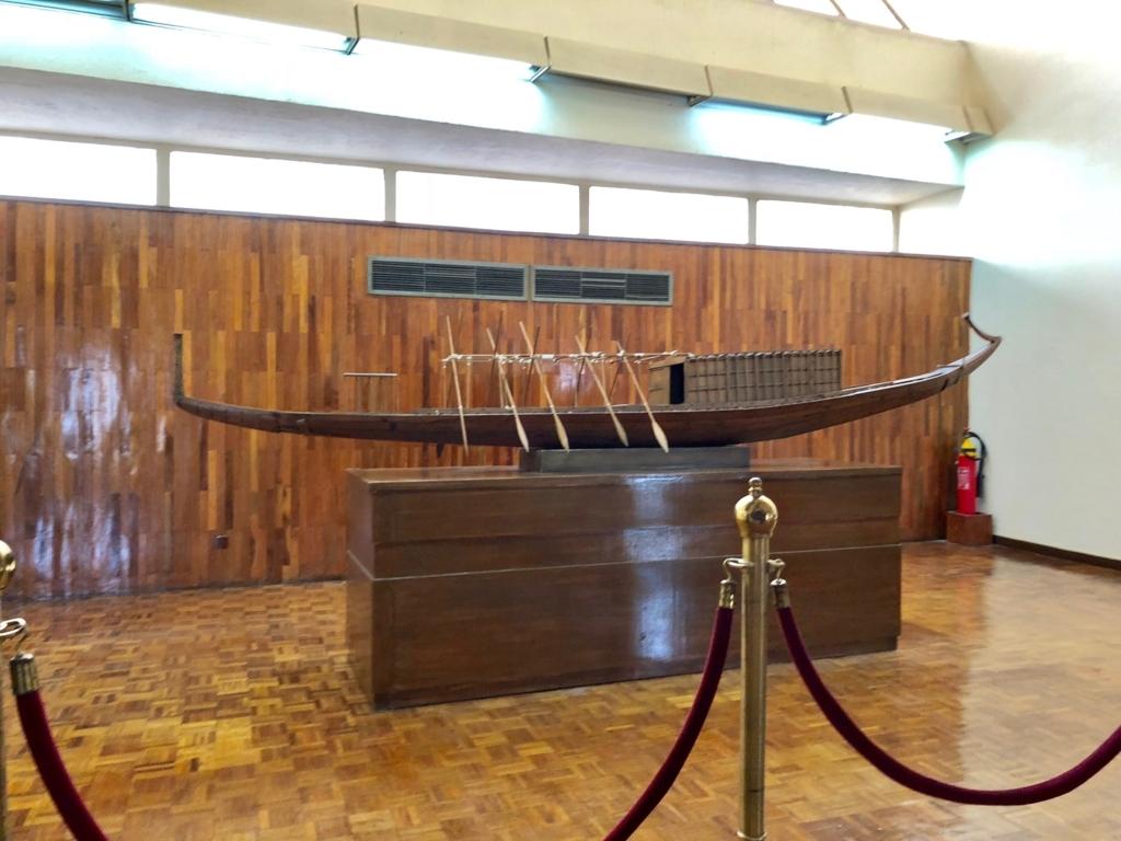 エジプト ギザ 「太陽の船博物館」太陽の船 模型