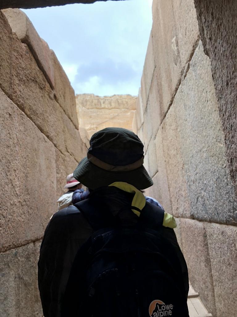 エジプト ギザ 大スフィンクスそば  河岸神殿内
