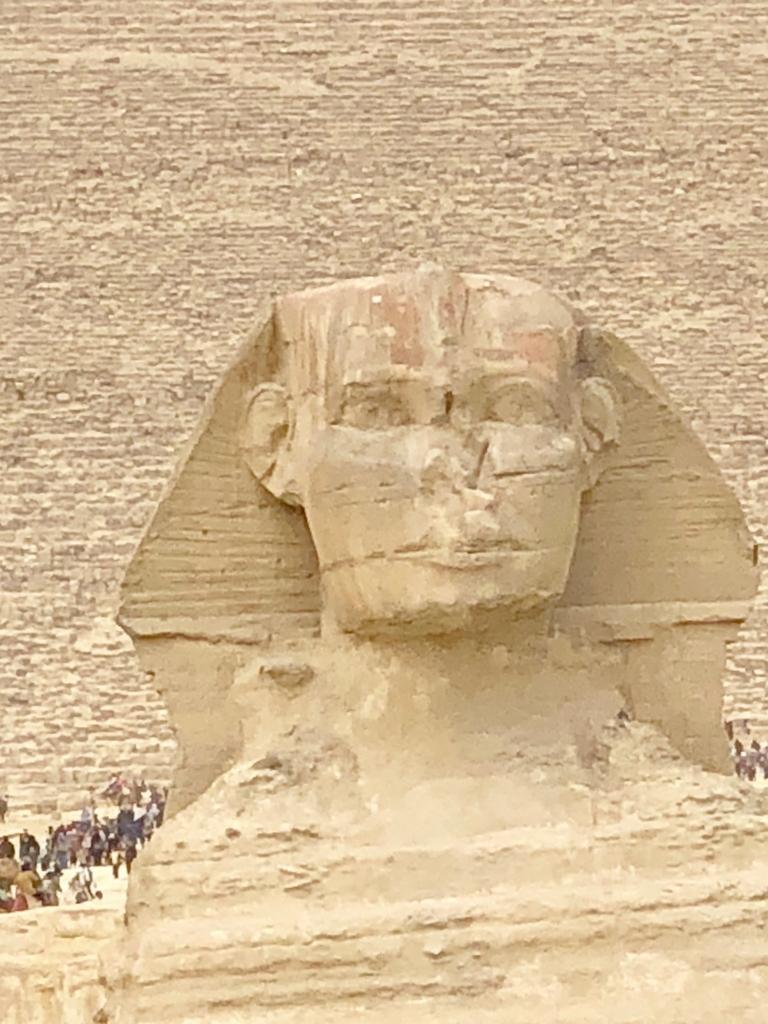 エジプト ギザ 大スフィンクス と 顔アップ