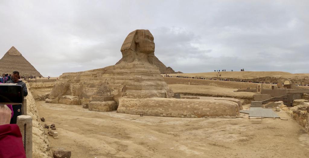 エジプト ギザ 大スフィンクス 参道より パノラマ撮影