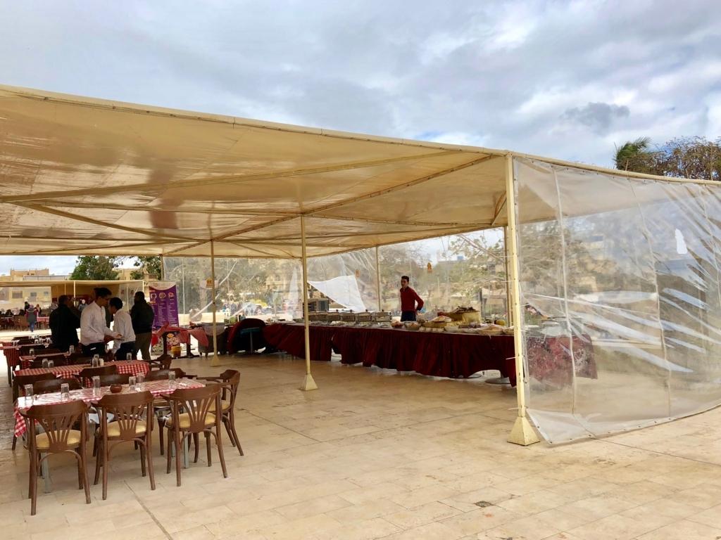 エジプト ギザ レストラン「Panorama Sphinx Restaurant and cafe」バイキングも