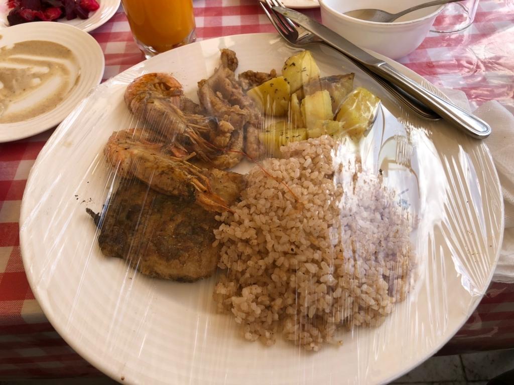 エジプト ギザ レストラン「Panorama Sphinx Restaurant and cafe」昼食 メイン