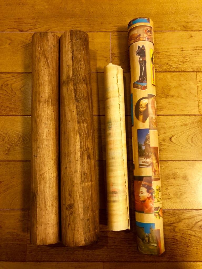 エジプト ギザ パピルス店「Aegyptus Papyrus」持ち帰り用の筒
