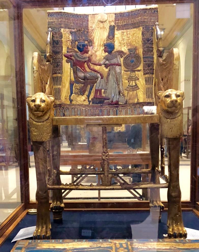 エジプト考古学博物館「ツタンカーメンの王座」
