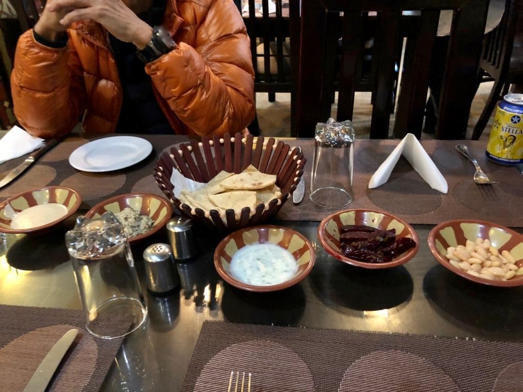エジプト ギザ 「Sun Z Restaurant and Lounge」アシーエ、タヒーナ 他4種類