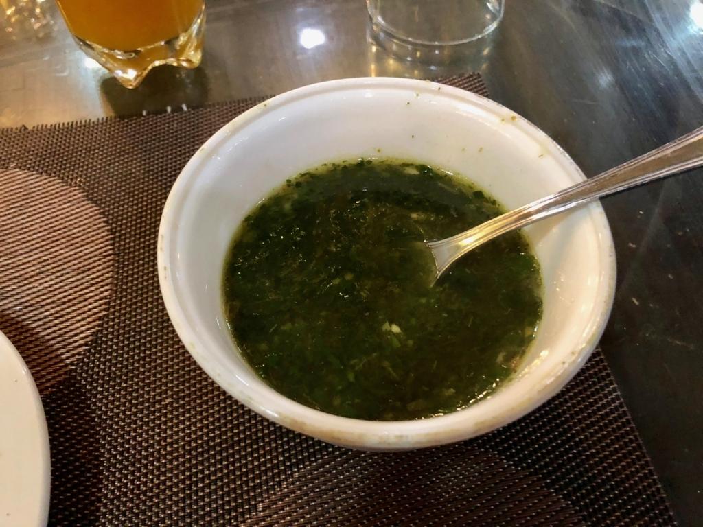 エジプト ギザ 「Sun Z Restaurant and Lounge」エジプト流 モロヘイヤしスープ